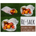 Re-Sack reusable Organic Cotton Produce Bags & Fruit Nets
