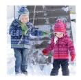 Girls Hoodie Jacket Ice Star Organic Merino Wool