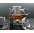 Tea Warmer of Glass and Stainless Steel | Trendglas Jena