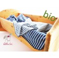 Blue Baby Blanket & Swaddle Blanket of Organic Cotton