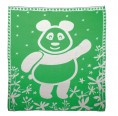 "Eco Baby Blanket ""Panda Bear"" of organic cotton - green"