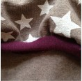 "Patterned ""little stars"" girl's bubble skirt of eco jersey"