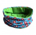 Loop scarf Colourful Stars and plain Green | bingabonga