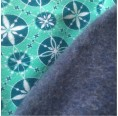 Winter Organic Cotton Loop Scarf patterned with Snow Stars