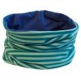 Loop scarf Aqua striped and plain Royal Blue | bingabonga