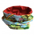 Colourful Children's Loop Scarf Animals Dreamery