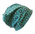 Turquoise Organic cotton Cap Snow Stars | bingabonga