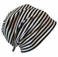 "Black-white ringed organic cotton Cap ""Line"" 