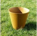 Yellow Planter made of Meadow Grass | Biowert