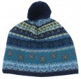 Bobble Cap Stella made of Organic Merino Wool - Navy | Reiff
