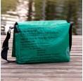 Upcycling Messenger Bag Green Fish