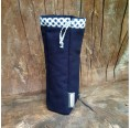 Bottle Bag made of Organic Cotton Blue