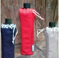 Organic Cotton Bottle Bag with refillable glass bottle