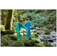 Bamboo Terrycloth Jumpsuit Kids Green or Blue | early fish