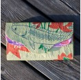 Fair Wallet of recycled fish feed sack  – yellow fish