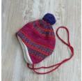 Children's Cap Sari of Organic Wool & Cotton Plush