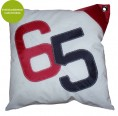 Cushion Sail Boat 65, large, recycled canvas | Marron Rouge