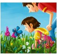 Picture Book Let's get closer: The Flower Field in German