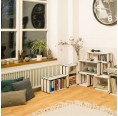 Upcycled shelving system white wood moveo. CASA 20.XX