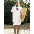 Women poncho OEKO-Tex terrycloth white | Beachbreak