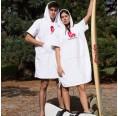 UNISEX Poncho made from OEKO-Tex Terrycloth, white | Beachbreak