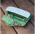 Green Fish Wallet of recycled fish feed bag | milchmeer