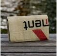 Red Elephant: purse of recycled cement bag   milchmeer