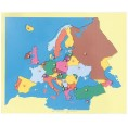 Montessori wooden Puzzle Map of Europe | Bartl