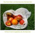 10 Pack Fruit & Vegetable Nets Organic Cotton | Re-Sack Net