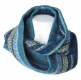 Round Scarf - Loop Scarf Stella of Organic Wool - Navy   Reiff