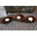Tealight holder made of upcycled coffee grounds