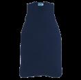 Sleeveless Baby Sleeping Bag of Eco Terrycloth - Navy | Reiff