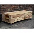 Rolling table or sideboard made of upcycled Euro Pallets