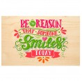 SMILE wooden postcard - Say it with Nature | Biodora