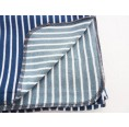 Baby Blanket & Swaddle Blanket of organic jersey, blue-white striped | Ulalue