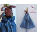"""Petrol Canvas Tote Bags """"Mouse"""" for Baby Bed 