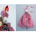 """Organic Cloth Bags """"Mouse"""", red,  for Baby Bed 