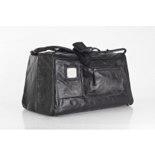 Big Upcycling Travel Bag | Sports Bag | Leather Bag Black