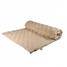 Mattress Topper with Punctual Stitching with Organic Millet Shells