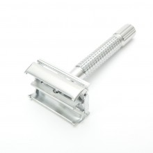 Timor Butterfly Safety Razor, Chrome matt