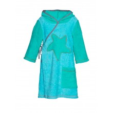 Bathrobe for children sea blue/sea green
