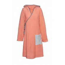 Terry wrap dress for ladies Coral