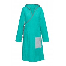 Terry wrap dress for ladies Sea green