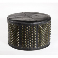 Stick Ottoman | inner tube bamboo sticks | circle