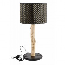 Upcycling Lamp made of inner tube & bamboo sticks
