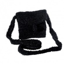 Mademoiselle | black wool purse | handbag