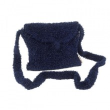 Mademoiselle | navy blue wool purse | handbag