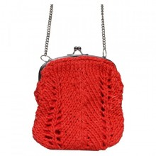 Madhu | small red purse with shoulder strap