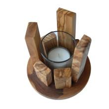 Tea Candle Holder OBJEKTA made of Olive Wood