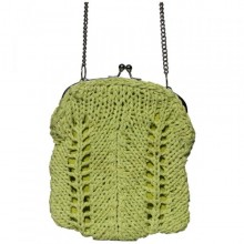 Madhu | small green purse with shoulder strap